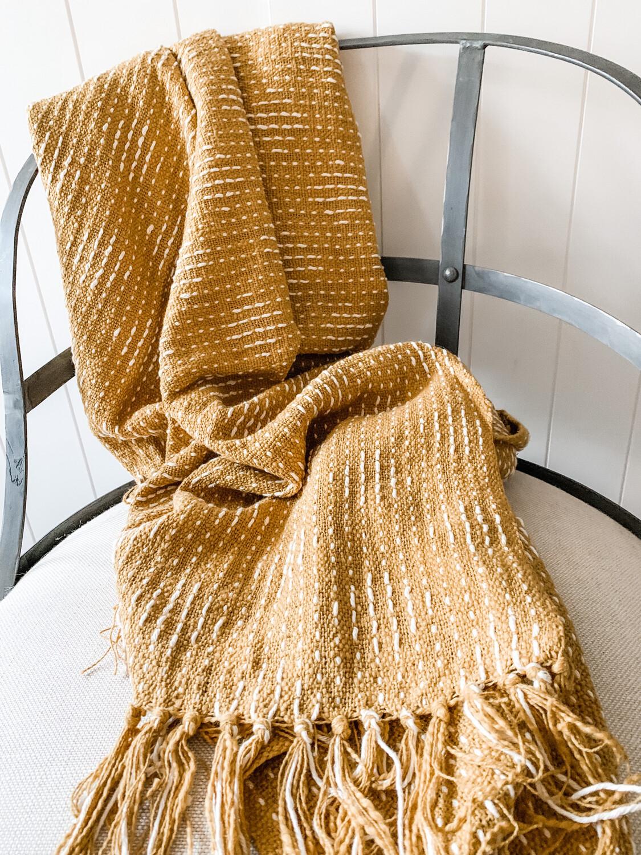 Gold Cotton Blanket