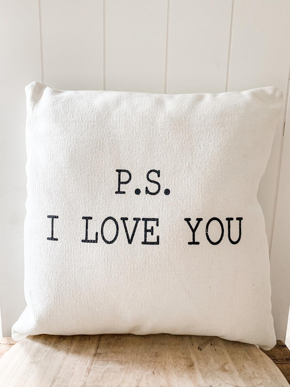 PS I Love U Pillow