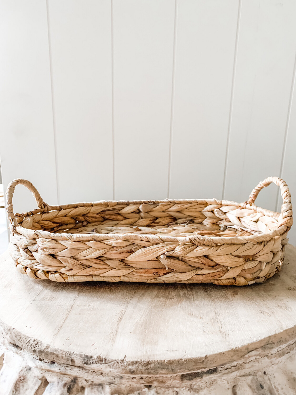 Oval Hyacinth Tray