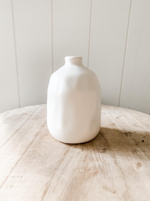 Matte White Vase