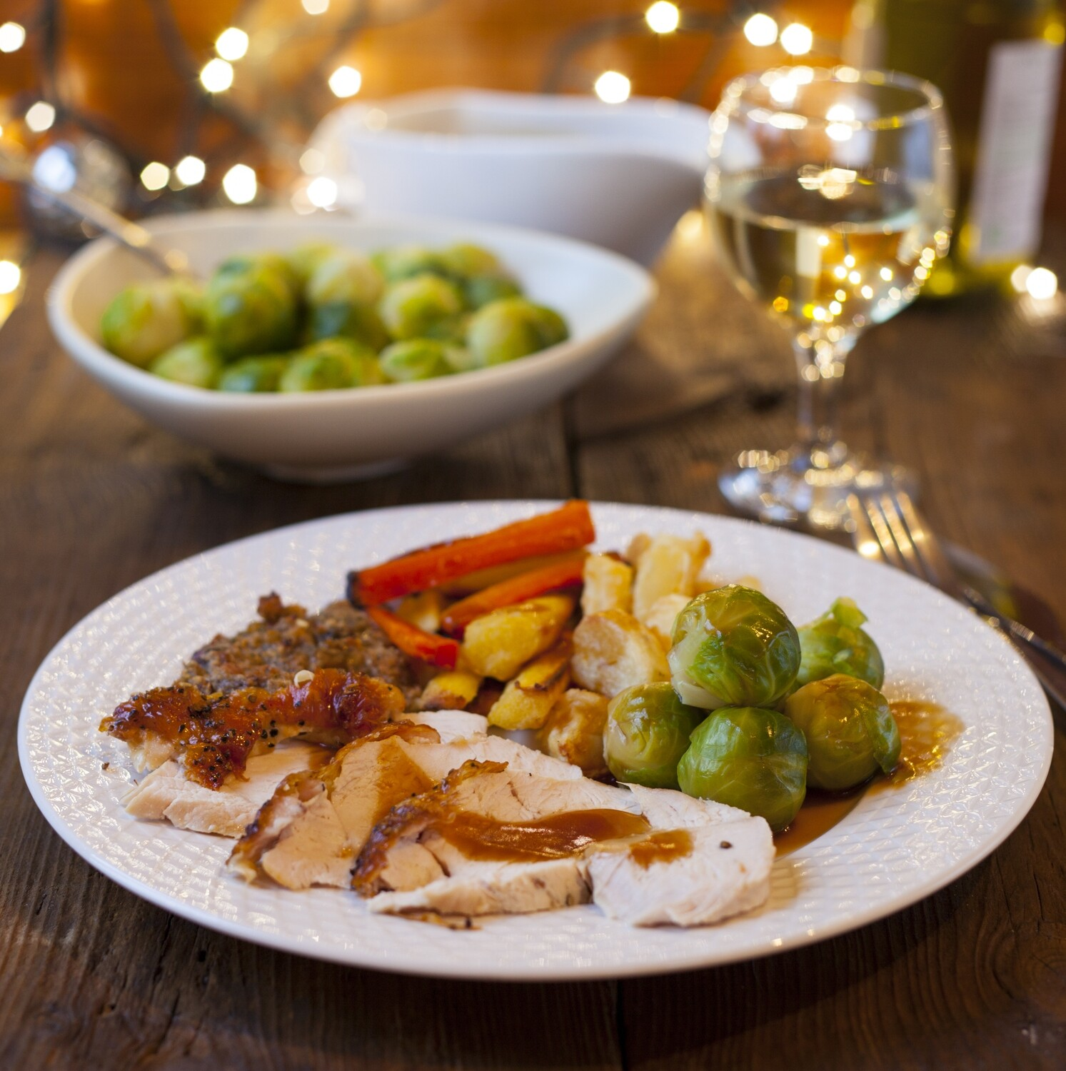 4 Person Christmas 3-Course Meal with Wine