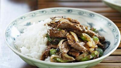 Beef & Black Bean Sauce Stir Fry & Rice