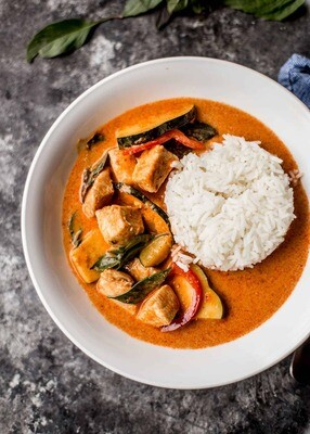 Karim's Thai Red Curry with Chicken & Rice