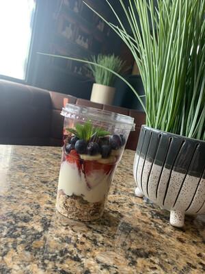 Granola Pot With Yogurt And Fresh Fruit