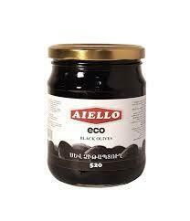 Ձիթապտուղ Aiello սև էկո 520գ կորիզով