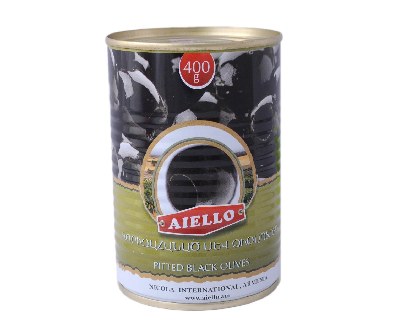 Ձիթապտուղ Aiello սև 400գ անկորիզ