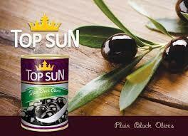Ձիթապտուղ Top Sun սև 425մլ կորիզով