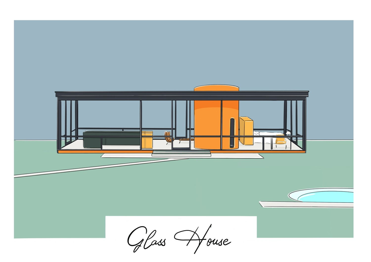 The Glass House - New Canaan