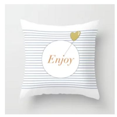 "Pillow ""Enjoy"""
