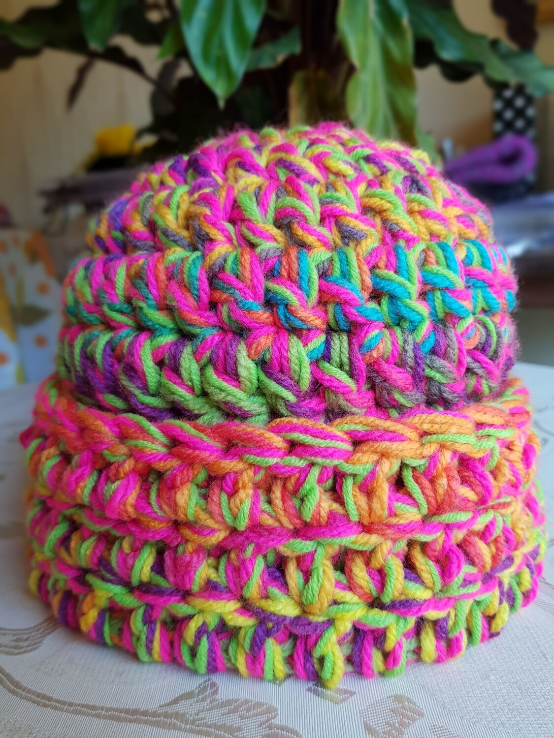Bubblegum Mix Super Chunky Beanie - Adult Unisex