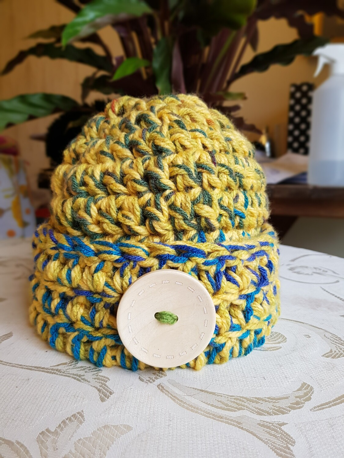 Mustard Surprise Super Chunky Beanie - Adult Unisex