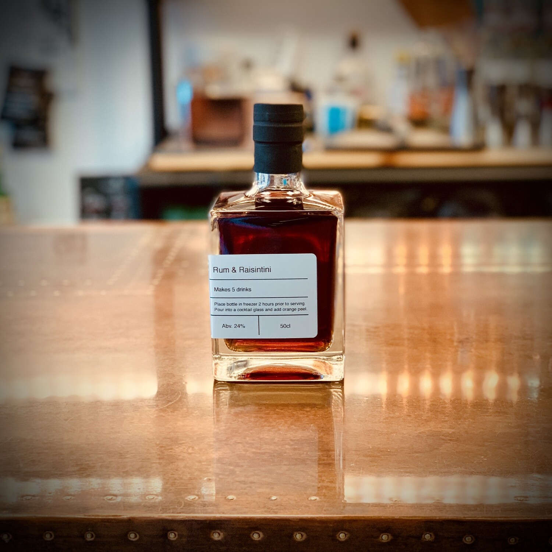 Rum & Raisintini - Bottled Cocktail - 50cl