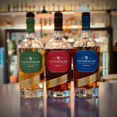 Cotswolds Distillery - Whisky Tasting Trio - 3 x 3cl