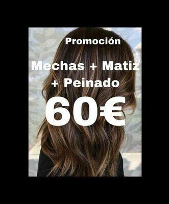 MECHAS + MATIZ + PEINADO (GRATIS)