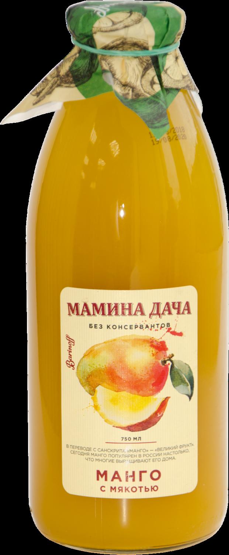 Нектар Мамина дача манго с мякотью 0,75л