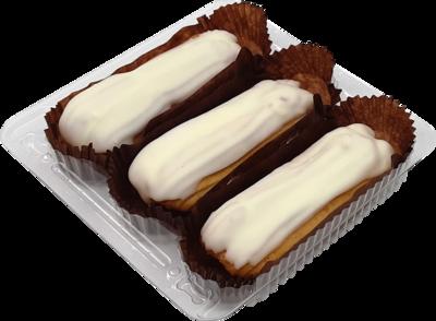Пирожное Эклер Йола с рикоттой ванильный 150г  3 шт