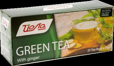 """Чай  """"Йола"""" зеленый с имбирем  25 пак."""