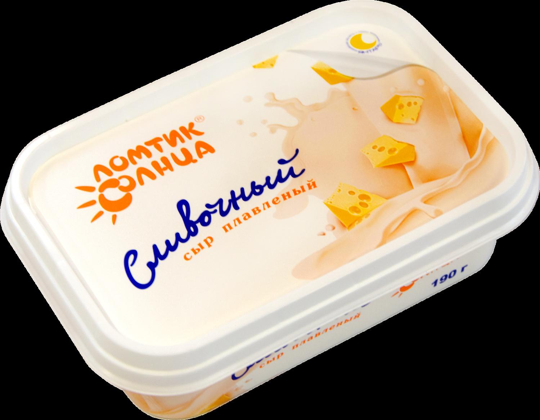 Сыр сливочный плавл. Ломтик солнца 190 г