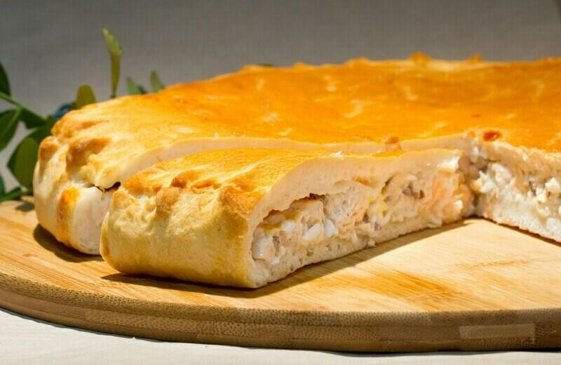 Пирог с рисом, яйцом и зеленью 1 кг (предзаказ)