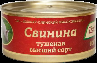 """Свинина тушёная """"Йола"""", высший сорт, ГОСТ"""
