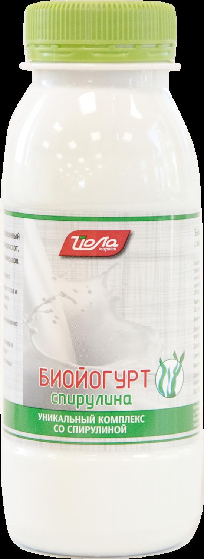 Биойогурт спирулина 2,5%ж. пэт.230г.(Р)