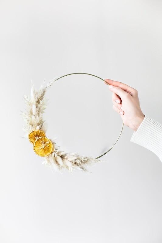 Trockenblumen Hoop Boho Style