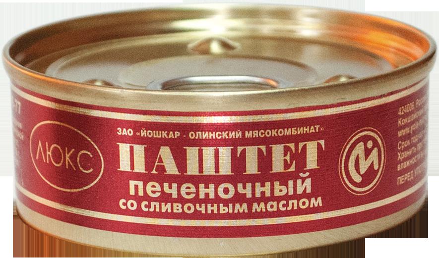 """Паштет печеночный """"ЛЮКС"""" со сливочным маслом"""
