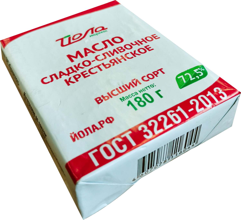 "Масло ""Йола"" сливочное 72.5% 180г (Ядрин)"