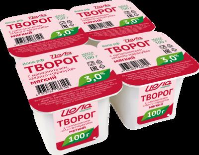Творог из кор.молока Манго/Маракуйя Йола 3% 100г