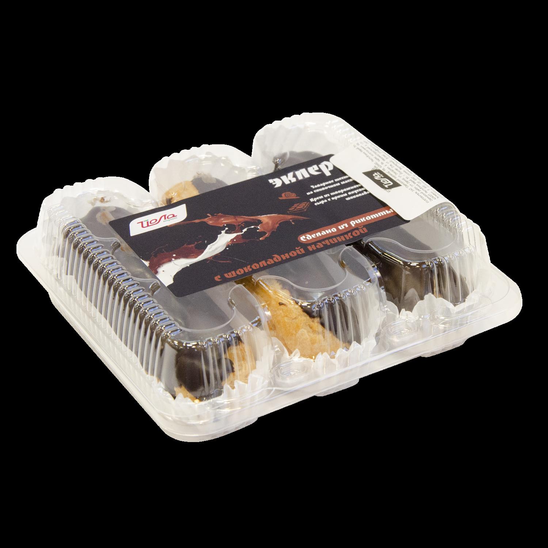 Пирожное Эклер Йола с рикоттой шоколадный 150г (ССЗ)