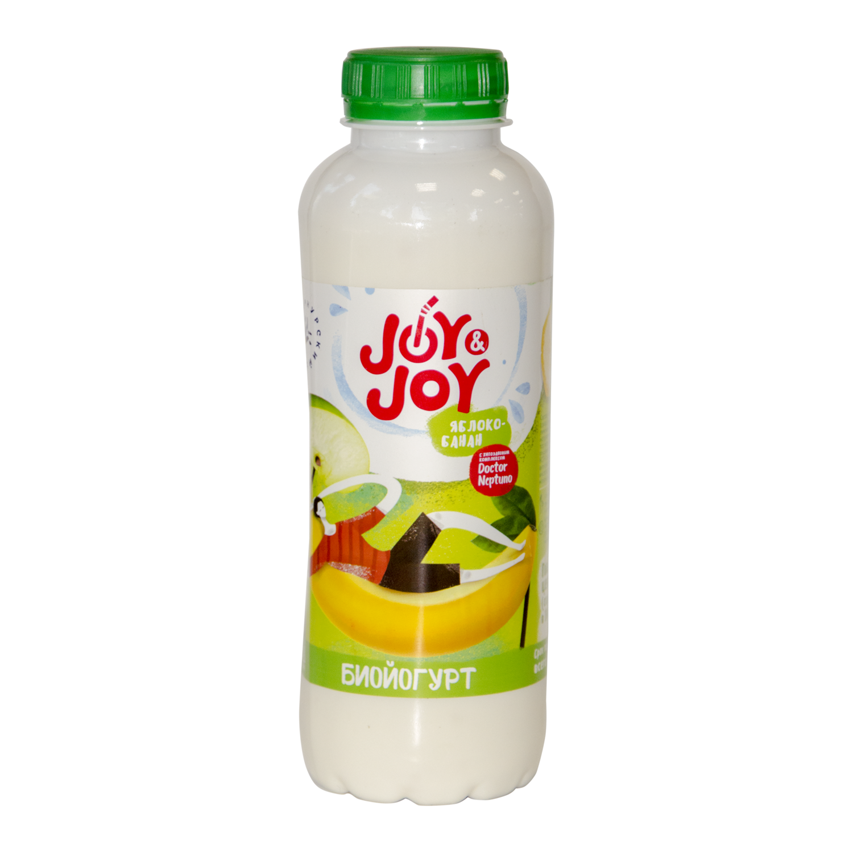 Биойогурт с хитозаном Яблоко/Банан 2.5% 0.45л пэт