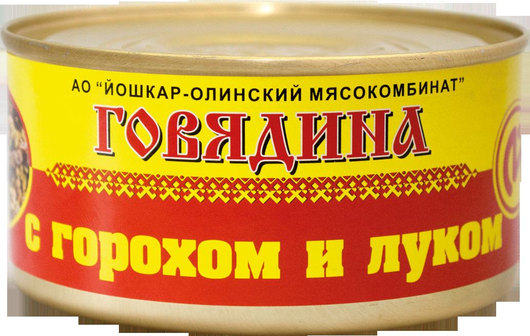 Говядина с горохом и луком 325гр