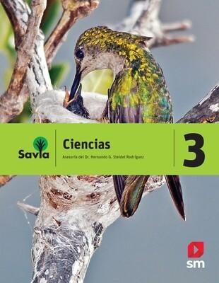 TERCERO - SAVIA CIENCIAS 3 TEXTO, CUADERNO DE LABORATORIO Y ACCESO DIGITAL - SM - 2018 - ISBN 9781630144494