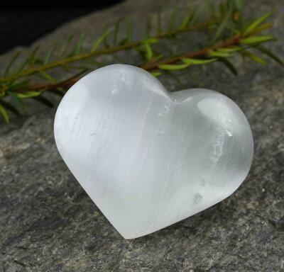Selenite Healing Crystal Heart