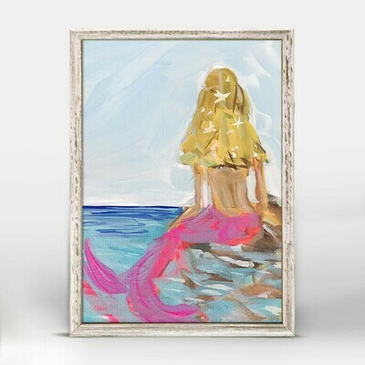Mermaid Framed Canvas