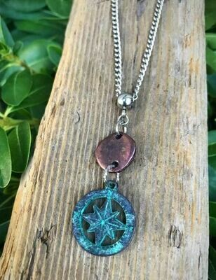 Patina North Star Necklace