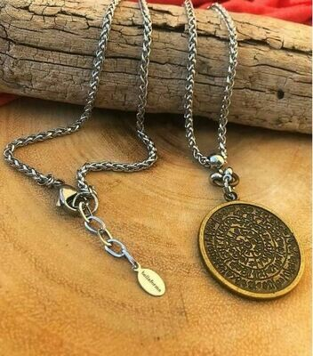 Labyrinth Coin Necklace