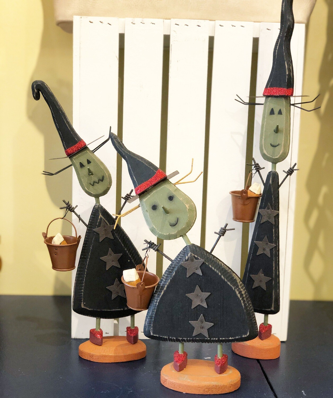 Halloween Wooden Witch