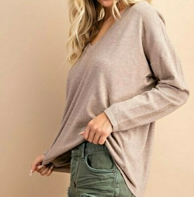 Super Soft V Neck Top