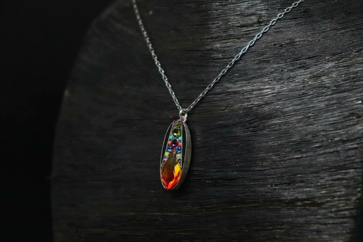 Orange Firefly Necklace