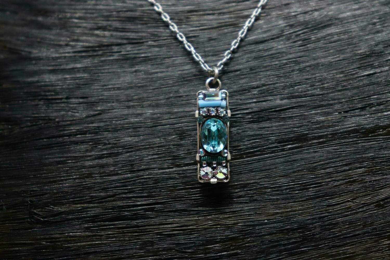 Blue Firefly Necklace