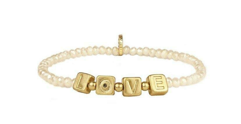 LOVE Crystal Beaded Stretch Bracelet