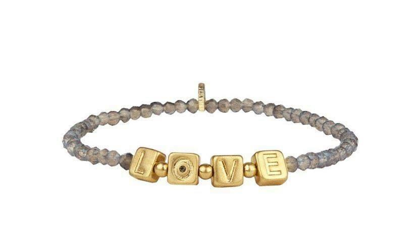 LOVE Crystal Beaded Stretch Bracelet