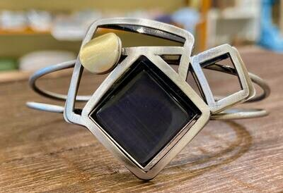 Handmade Abstract Cuff Bracelet