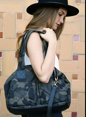 Camo Puffer Bag
