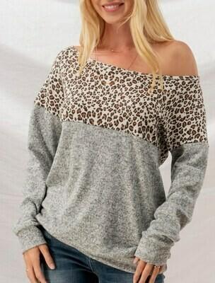 Cheetah Knit Top