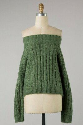 Fuzzy Cable Knit Sweater