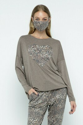 Cheetah Top with Mask