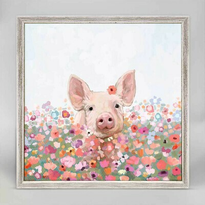 Wildflower Pig Canvas