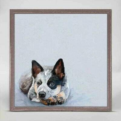 Best Friend- Sweet Blue Heeler Canvas